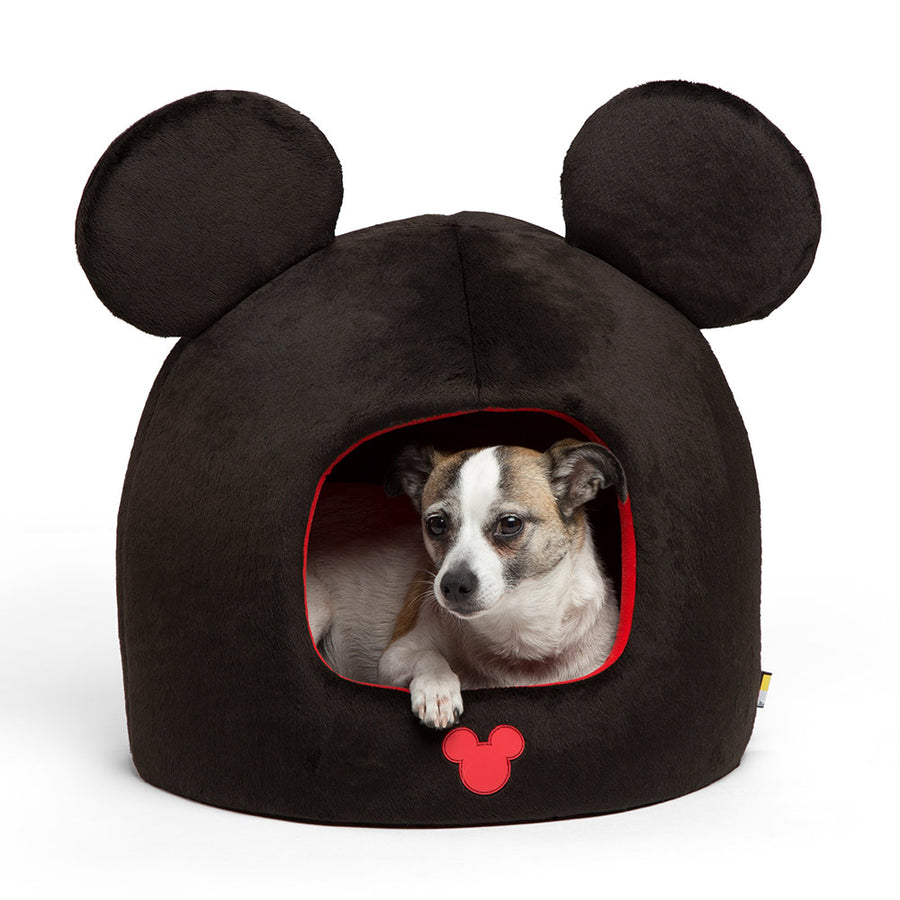 SENTIMENTS<br>Disney Mickey/Minnie Mouse Ears<br>Black Dome Pet Bed