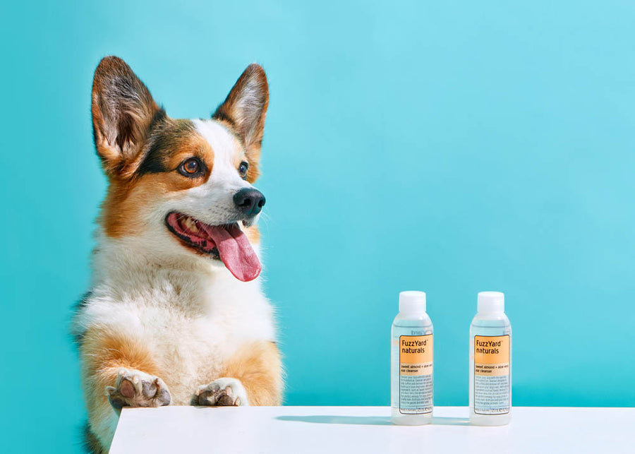10% OFF ⏰ FUZZYARD<br>Sweet Almond + Aloe Vera<br>Dog Ear Cleanser