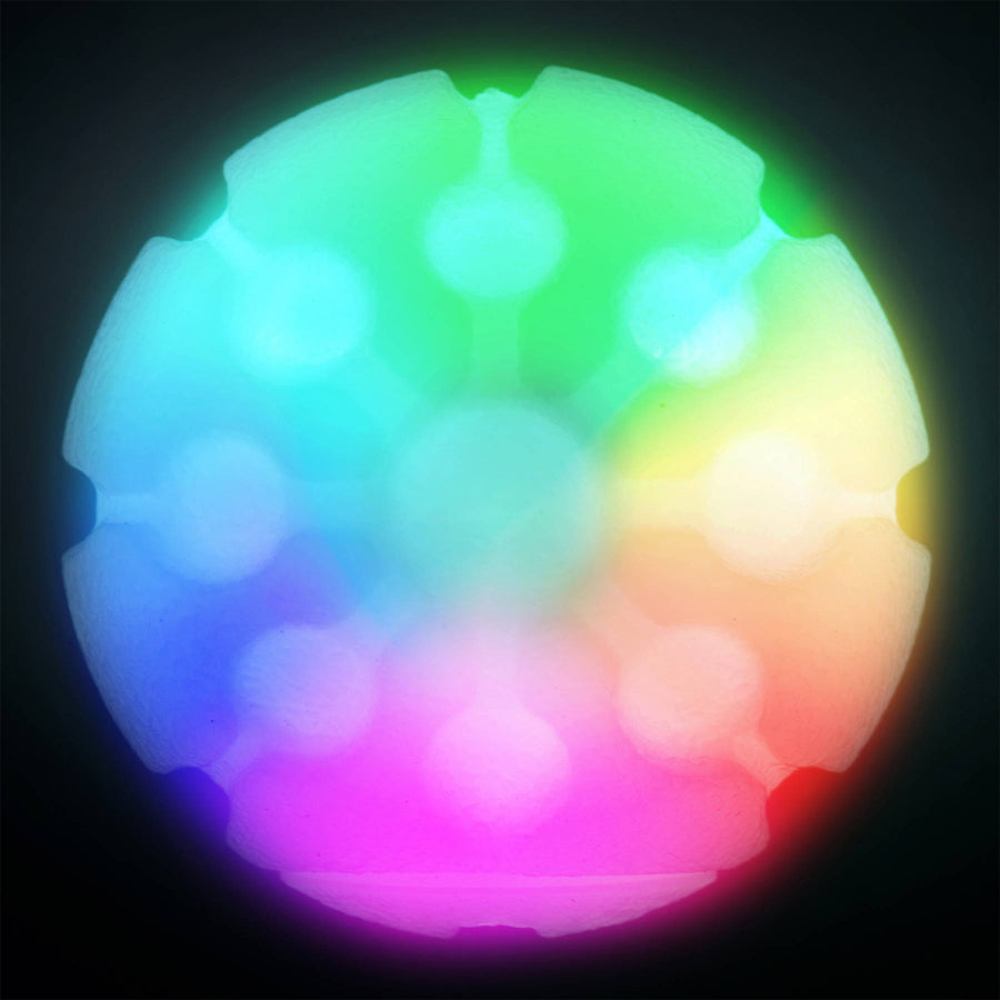 NITE IZE<br>GlowStreak Waterproof Rubber Ball<br>Motion-Activated LED Fetch Toy