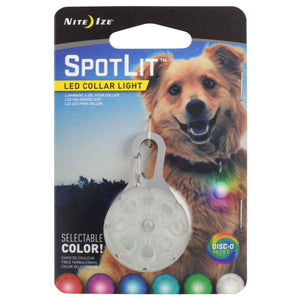 NITE IZE<br>SpotLit Disc-O Select<br>LED Collar Light