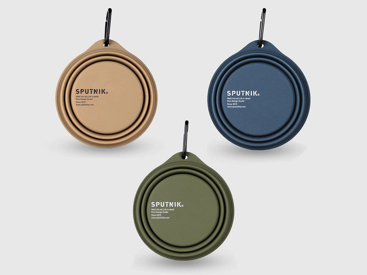 SPUTNIK<br>Collapsible Travel Bowl<br>Food-Safe Silicone with Carabiner