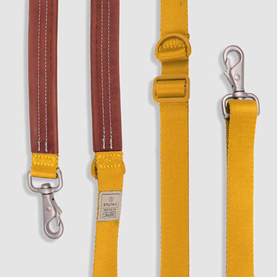SPUTNIK<br>Nylon + Leather<br>Multi-Function Dog Leash