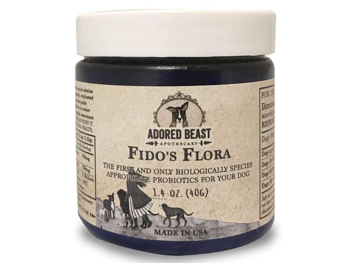 ADORED BEAST<br>Fido's Flora<br>Species-Unique Pre & Probiotics<br>Dog Supplement