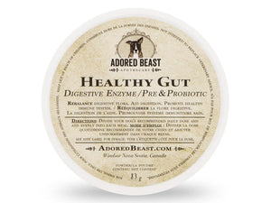 ADORED BEAST<br>Healthy Gut<br>Digestive Enzymes + Pre & Probiotics<br>Dog/Cat Supplement