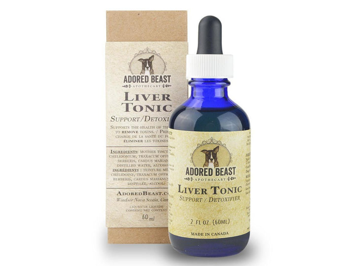 ADORED BEAST<br>Liver Tonic<br>Detoxifier & Allergy Control<br>Dog/Cat Supplement