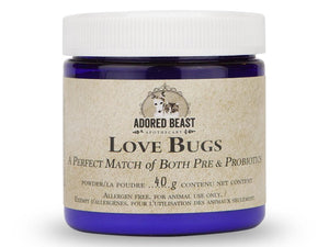 ADORED BEAST<br>Love Bugs<br>Pre & Probiotics<br>Dog/Cat Supplement