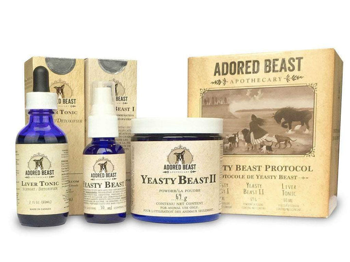 ADORED BEAST<br>Yeasty Beast Protocol Kit<br>Yeast & Itch Control<br>Dog Supplement