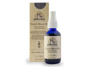 ADORED BEAST<br>Yeasty Beast III<br>Soothing, Healing & Anti-Itch<br>Dog Topical Spray