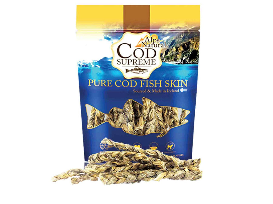 ALPS NATURAL<br>100% Cod Fish Skin Knots<br>Dehydrated Dog Treats<br>⭐️ 2 FOR $15 ⭐️