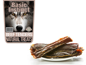 20% OFF ⏰ BASIC INSTINCT<br>100% Air Dried Beef Tenders<br>Dog Chew Treats