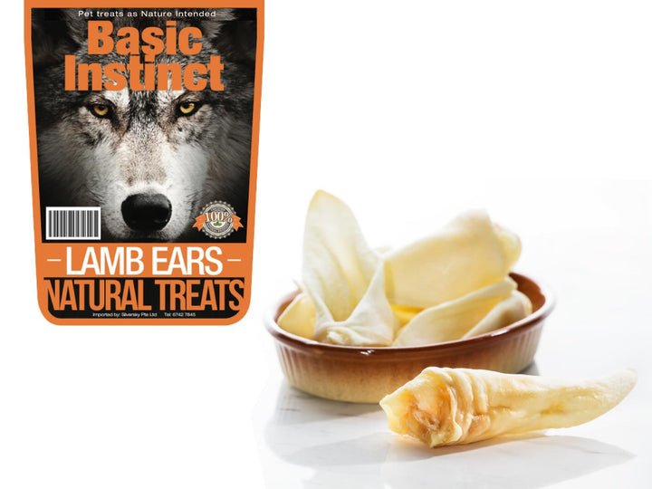 9% OFF ⏰ BASIC INSTINCT<br>100% Air Dried Lamb Ears<br>Dog Chew Treats