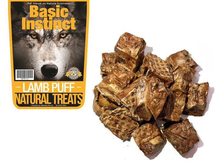 17% OFF ⏰ BASIC INSTINCT<br>100% Air Dried Lamb Lungs Puff<br>Dog Chew Treats