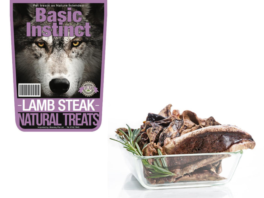 17% OFF ⏰ BASIC INSTINCT<br>100% Air Dried Lamb Lungs Steak<br>Dog Chew Treats