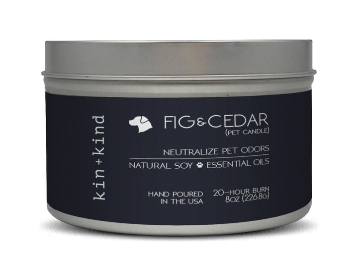 20% OFF ⏰ KIN+KIND<br>Fig + Cedar<br>Deodorising Pet Odor Candle