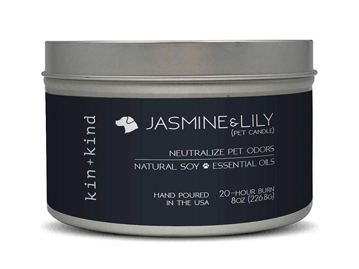 20% OFF ⏰ KIN+KIND<br>Jasmine + Lily<br>Deodorising Pet Odor Candle