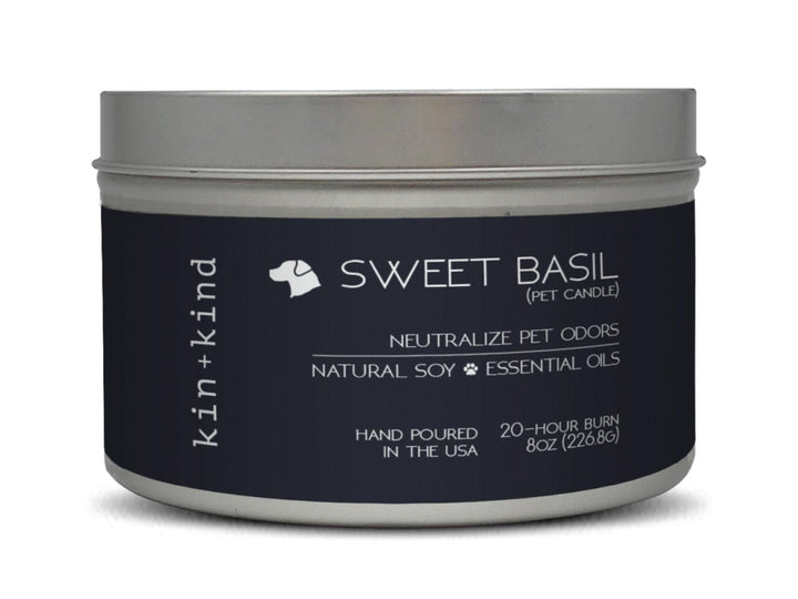 KIN+KIND<br>Sweet Basil<br>Deodorising Pet Odor Candle