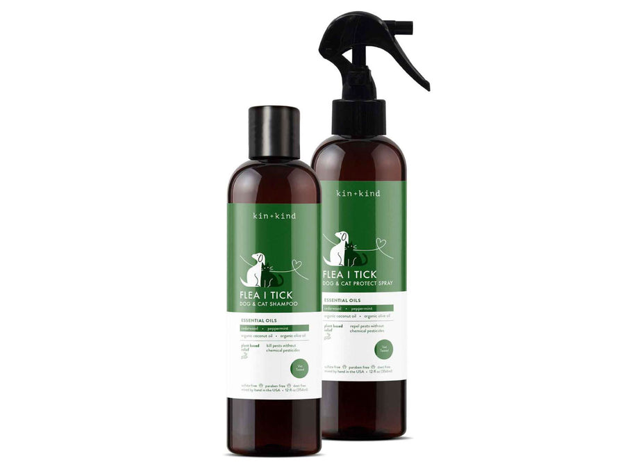 KIN+KIND<br>Organic Flea + Tick<br>Dog/Cat Protect Spray