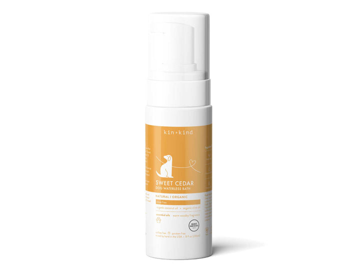 KIN+KIND<br>Organic Sweet Cedar<br>Waterless Foam Dog Shampoo