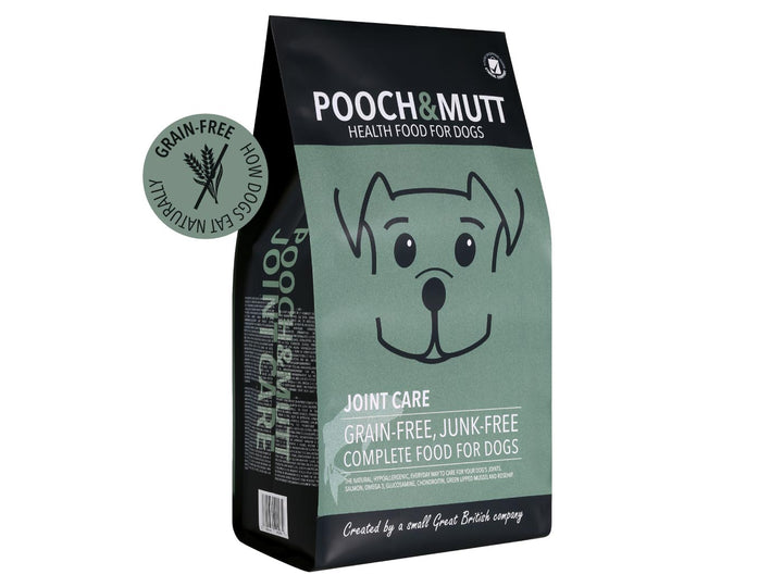 15% OFF ⏰ POOCH & MUTT<br>GRAIN FREE Joint Care Salmon<br>Dry Dog Food
