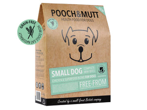 POOCH & MUTT<br>GRAIN FREE Small Dog Complete Superfood Chicken Mini Bites Dry Food