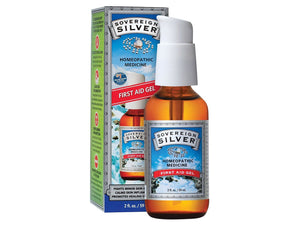 SOVEREIGN SILVER<br>Bio-Active Colloidal Silver<br>First Aid Gel