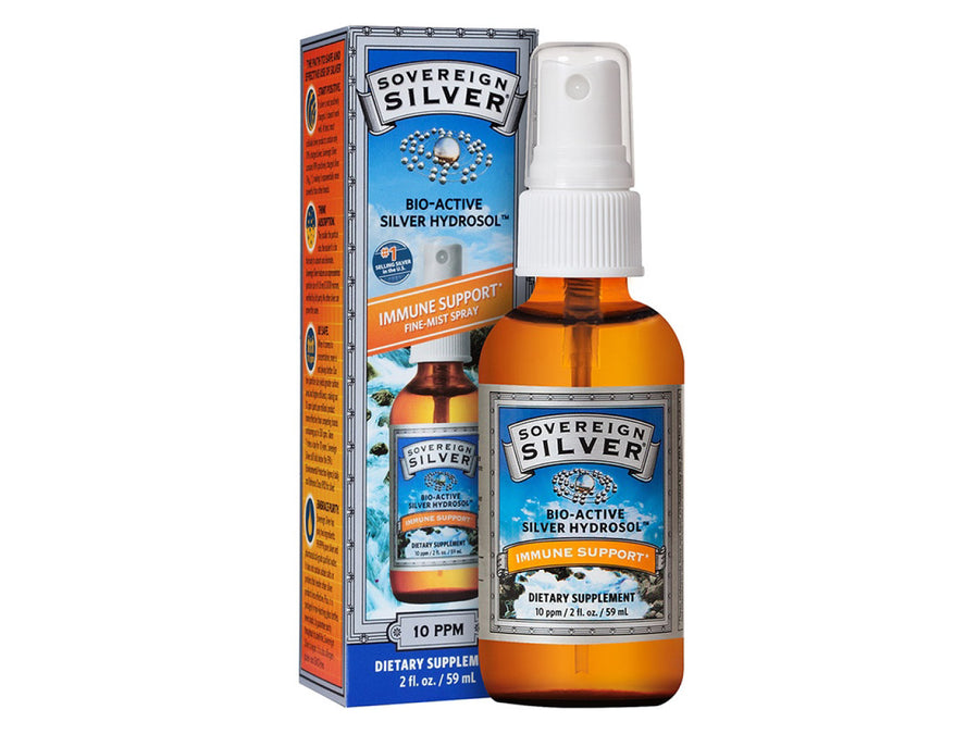 SOVEREIGN SILVER<br>Bio-Active Colloidal Silver 10PPM<br>Dog/Cat First Aid & Immunity