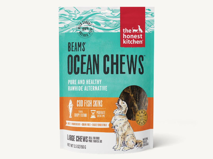 WTF EXCL🤘🏼THE HONEST KITCHEN<br>Beams Ocean Cod Fish Skins<br>Dehydrated Dog Chew Treats