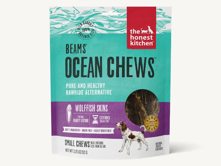 WTF EXCL🤘🏼THE HONEST KITCHEN<br>Beams Ocean Wolffish Skins<br>Dehydrated Dog Chew Treats
