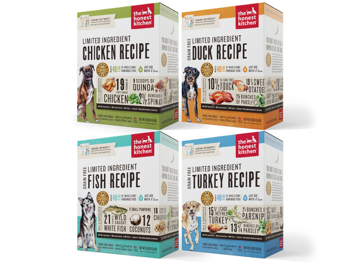 15% OFF ⏰ THE HONEST KITCHEN<br>Limited Ingredient Grain Free<br>Dehydrated Wet Dog Food