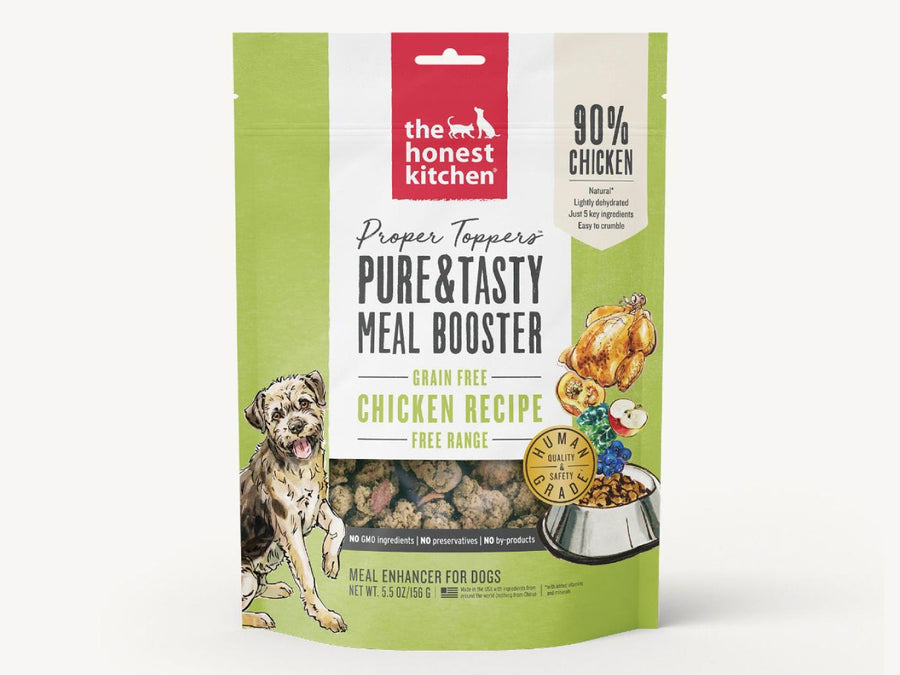 15% OFF ⏰ THE HONEST KITCHEN<br>GRAIN FREE Proper Toppers Chicken<br>Dehydrated Dog Food
