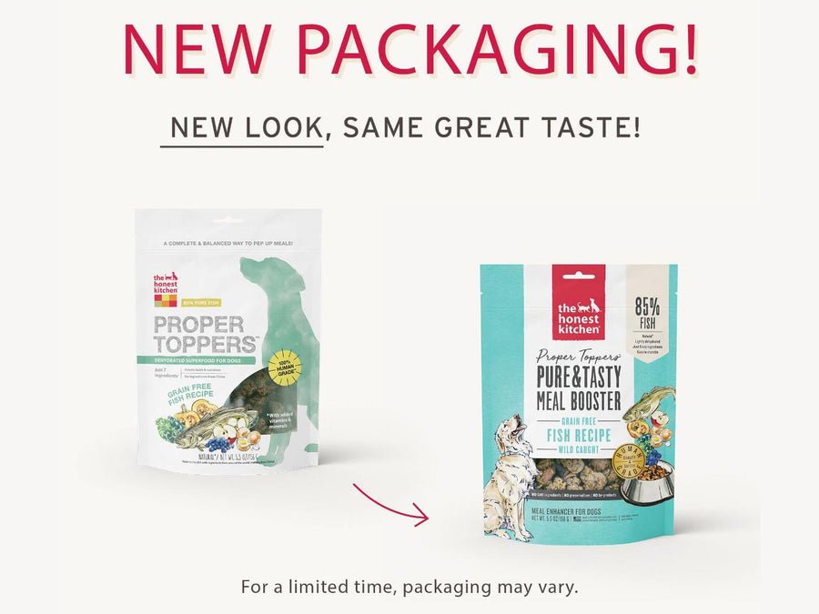15% OFF ⏰ THE HONEST KITCHEN<br>GRAIN FREE Proper Toppers Fish<br>Dehydrated Dog Food