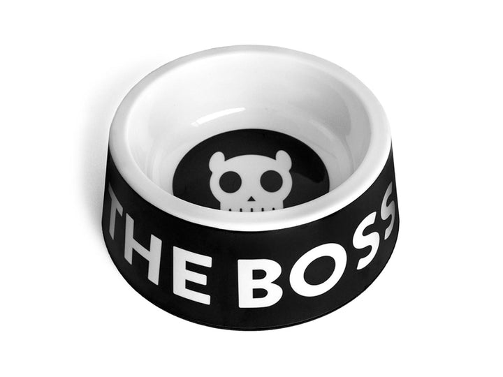 10% OFF ⏰ ZEE.DOG<br>I'm The Boss Black Dog Bowl