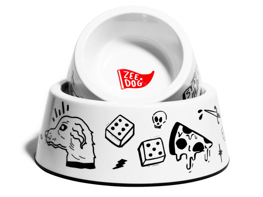 10% OFF ⏰ ZEE.DOG<br>Old School Dog Bowl