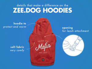 10% OFF ⏰ ZEE.DOG<br>Mafia Hooded Dog Sweater