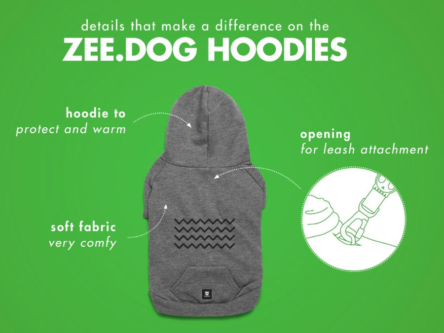 10% OFF ⏰ ZEE.DOG<br>Zig Zag Hooded Dog Sweater