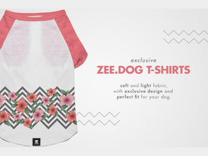 ZEE.DOG<br>Mahalo Flowers Dog T-Shirt
