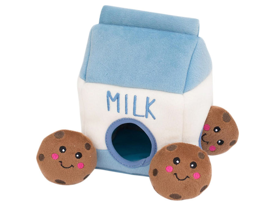 ZIPPYPAWS<br>Popcorn Bucket Burrow<br>Interactive Hide & Seek Dog Plush Toy