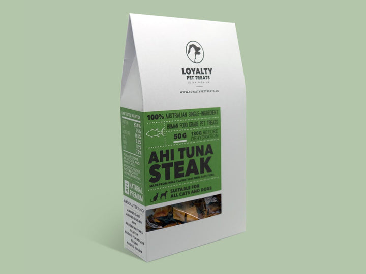 LOYALTY PET TREATS<br>Dehydrated Ahi Tuna Steak<br>Dog/Cat Treats