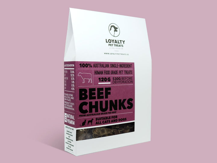 LOYALTY PET TREATS<br>Dehydrated Beef Chunks<br>Dog/Cat Treats