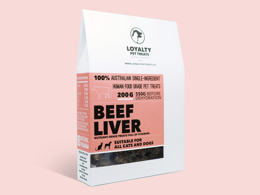 LOYALTY PET TREATS<br>Dehydrated Beef Liver<br>Dog/Cat Treats