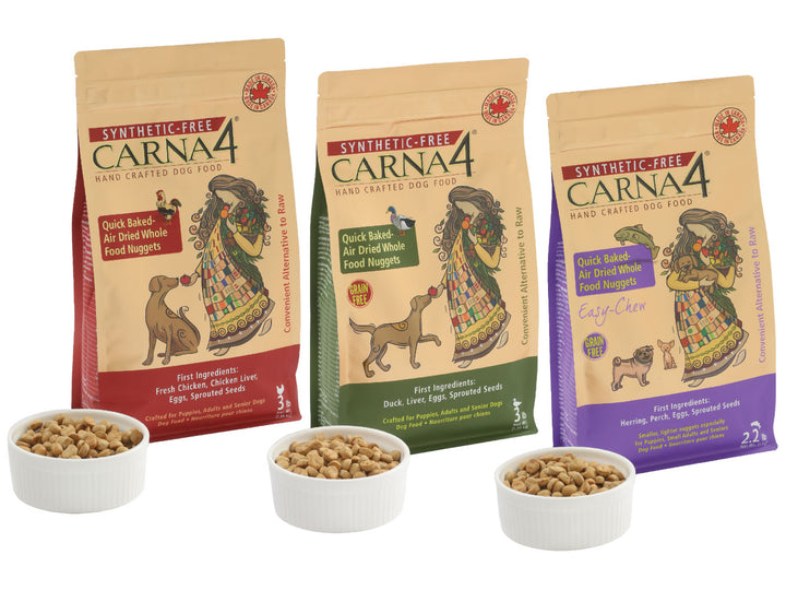 20 + 10% OFF ⏰ CARNA4<br>Synthetic-Free Quick Baked Air Dried<br>Hand Crafted Whole Dog Food