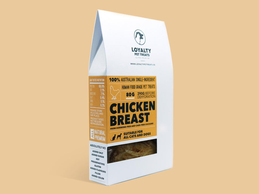 LOYALTY PET TREATS<br>Dehydrated Chicken Breast<br>Dog/Cat Treats
