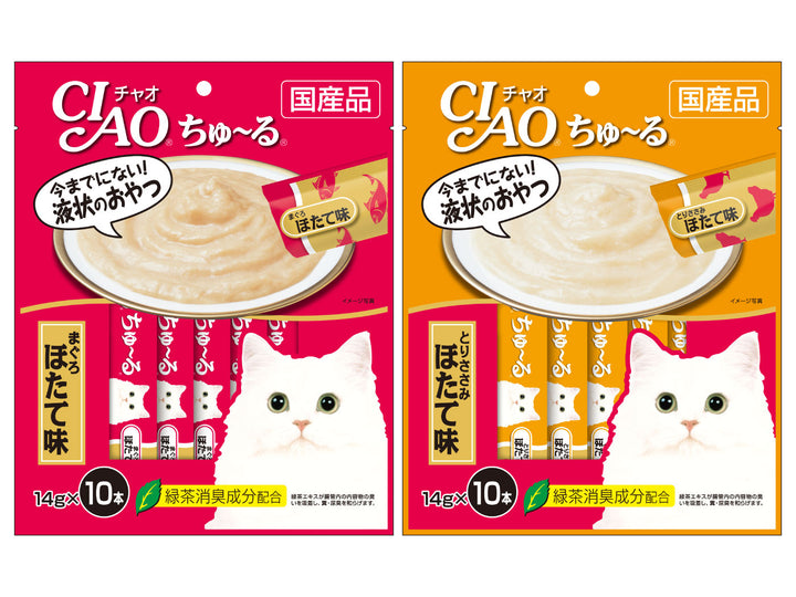 CIAO<br>Grain Free Churu 10-Pack<br>Chicken/Tuna Wet Cat Treats