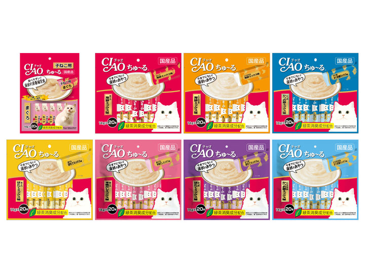 CIAO<br>Grain Free Churu 20-Pack<br>Chicken/Tuna Wet Cat Treats
