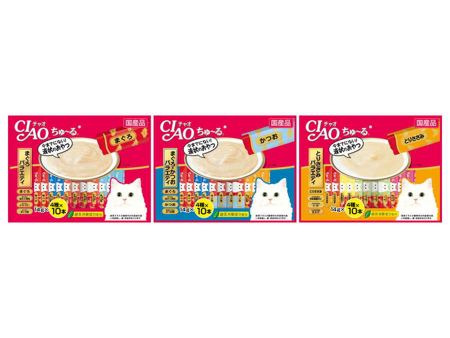 CIAO<br>Grain Free Churu 40-Pack Jumbo Mix<br>Chicken/Tuna Wet Cat Treats