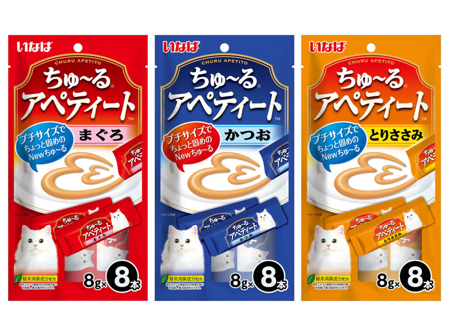 CIAO<br>Grain Free Churu Apetito 8-Pack<br>Chicken/Tuna Wet Cat Treats