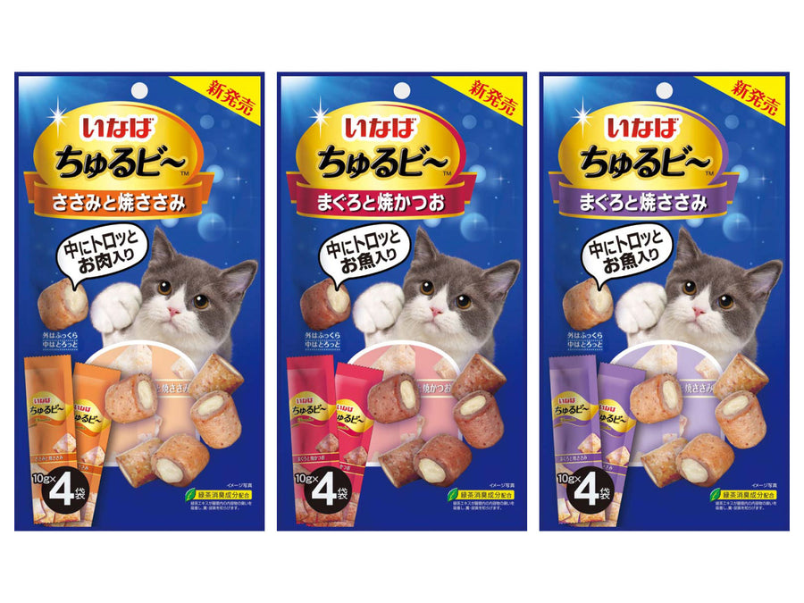 CIAO<br>Grain Free Churubee 4/10-Pack<br>Chicken/Tuna Cat Treats
