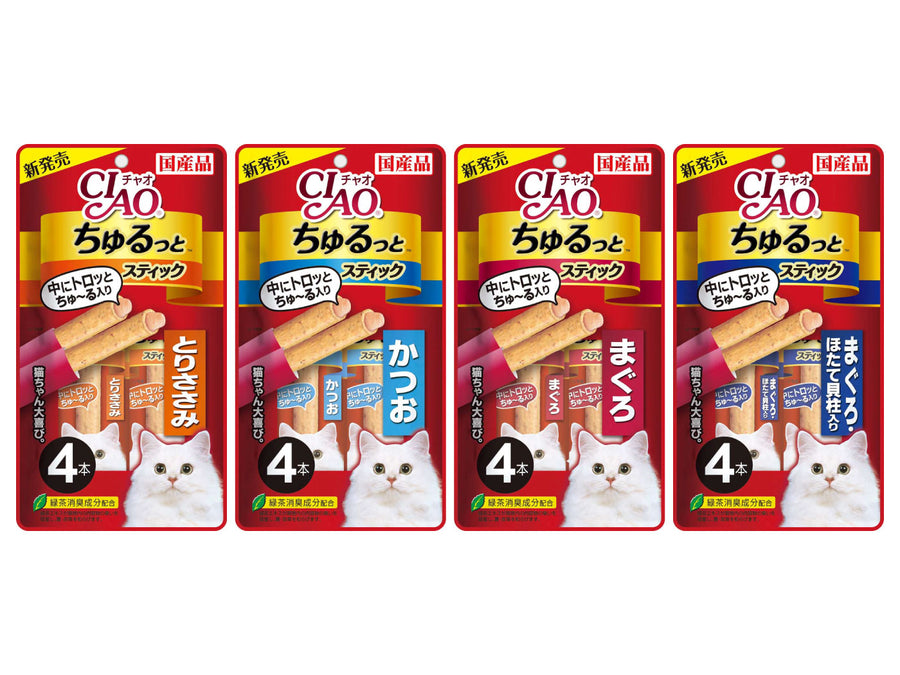 CIAO<br>Grain Free Churutto 4-Pack<br>Chicken/Tuna Cat Treats