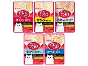 CIAO<br>Grain-Free Clear & Creamy Soup Pouch<br>Chicken/Tuna Wet Cat Topper