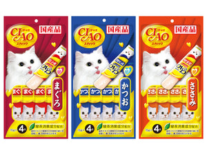 CIAO<br>Grain Free Jelly Stick 4-Pack<br>Chicken/Tuna Wet Cat Treats